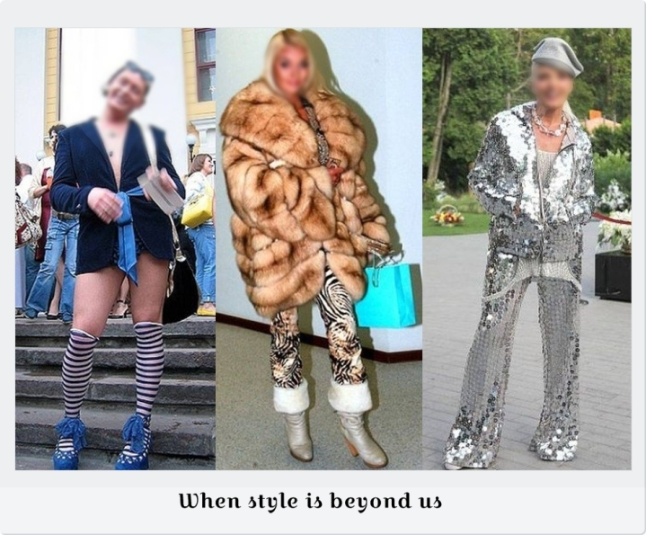 When style is beyond us
