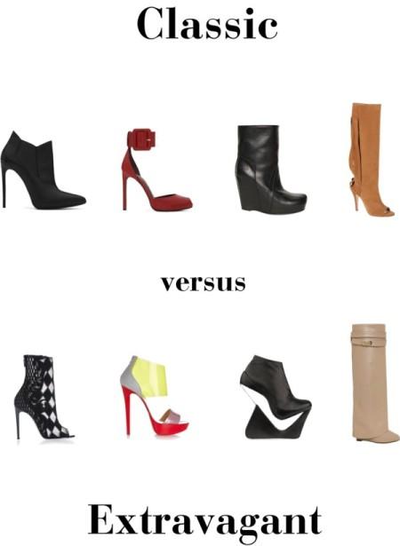 classic versus extravagant