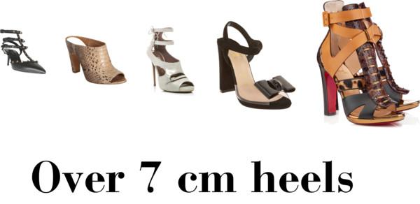 over 7 cm heels