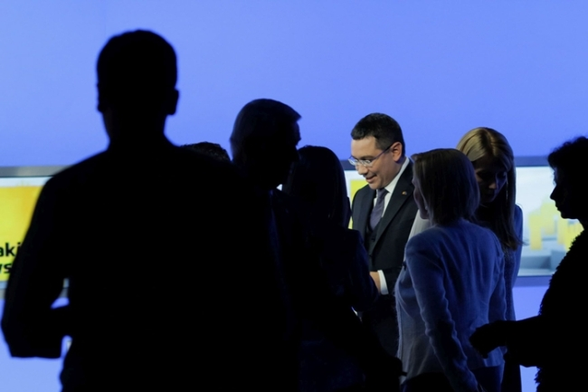 Prima dezbatere electorala difuzata de Realitatea: Victor Ponta Sursa foto: realitatea.net