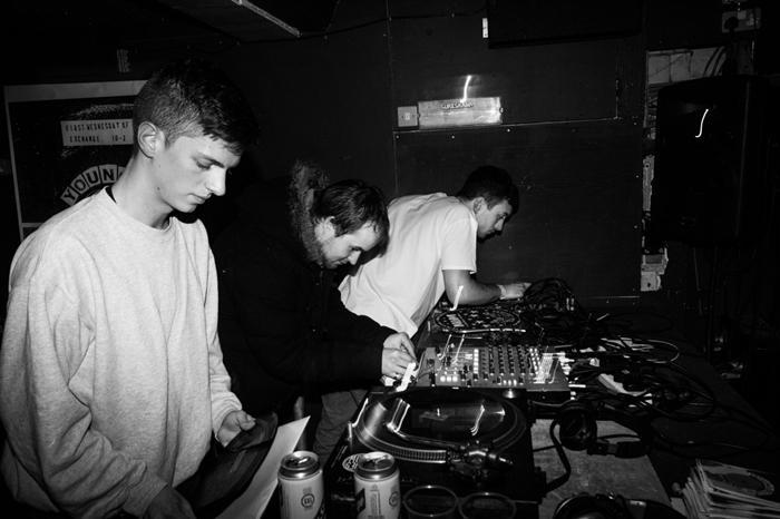 Young Echo Collective. De la stânga la dreapta: Ishan Sound, Vessel, Ossia.