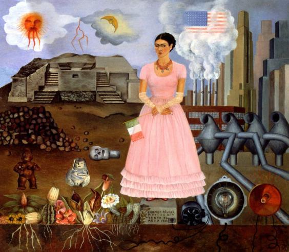 Autoportret la graniţa dintre Mexic şi Statele Unite ale Americii, 1932